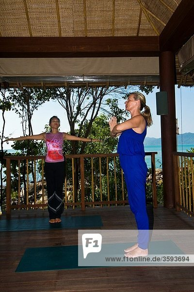 Yoga class  Six Senses Spa  Six Senses Hideaway resort hotel  Koh Samui island  Gulf of Thailand  Thailand