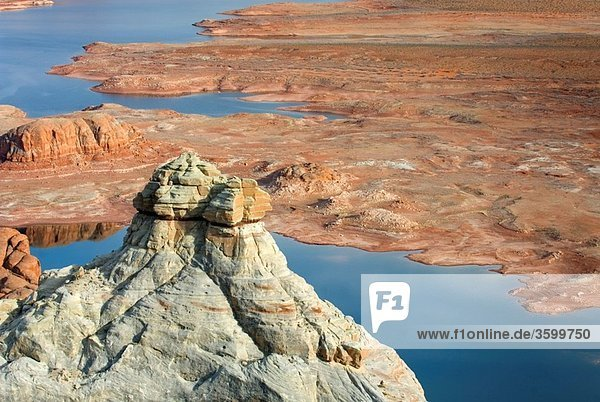 View of Padre Bay and Lake Powell from Alstrom Point  Glen Canyon National Recreation Area Utah