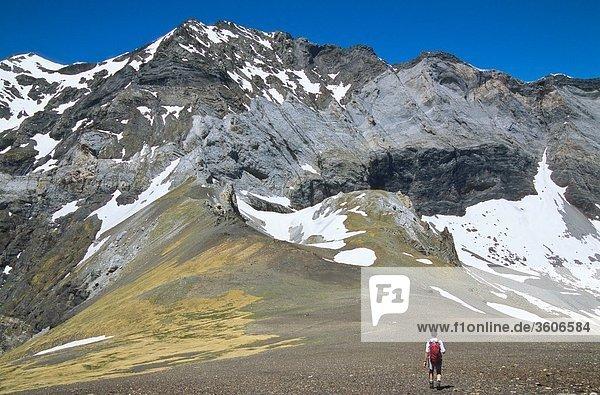 Europa - Frankreich - Pyrenäen - 65 Hautes-Pyrenees - Midi-Pyrenees - Midi Pyrenees - Parc National des Pyrénées - 65 Hautes-Pyrenees - Cirque de Barroude - Port de Barroude