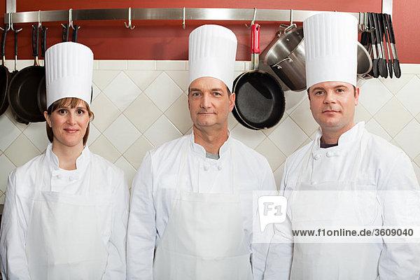 Chefs in commercial kitchen  portrait