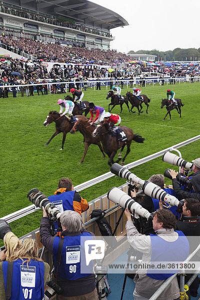 England  London  jährliche Epsom Derby Pferderennen