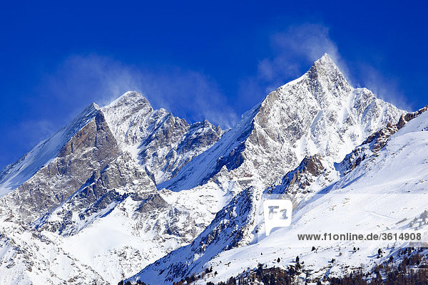 Schweizer Alpen  Dom - 4545 m  Täschhorn - 4404 m  Wallis  Schweiz