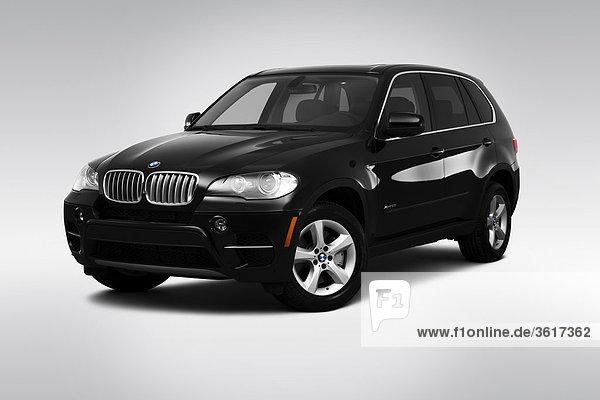 schwarz frontal Ansicht Flachwinkelansicht BMW Winkel
