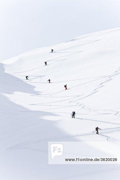 Skitour am Watzmann  Berchtesgadener Alpen  Bayern  Deutschland  Europa
