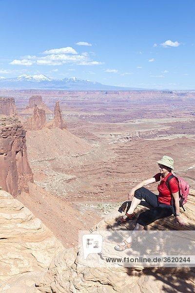 Mesa Arch  Island in the Sky Nationalpark  Utah  USA