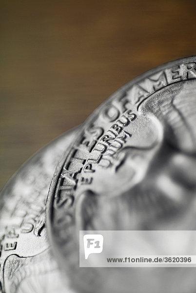 Nahaufnahme eine amerikanische Münze