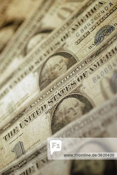 Nahaufnahme von einem US-Dollar bills