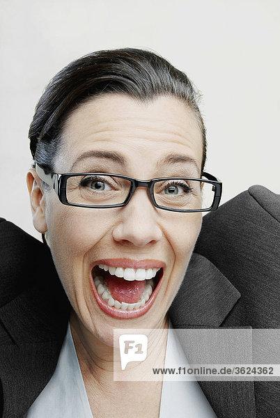 Porträt von lachend geschäftsfrau