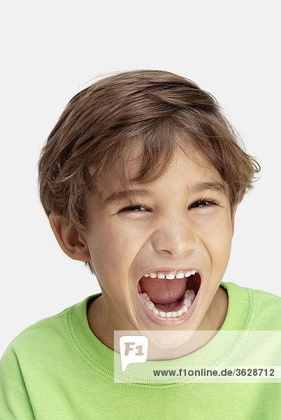 Bildnis eines Knaben lachen