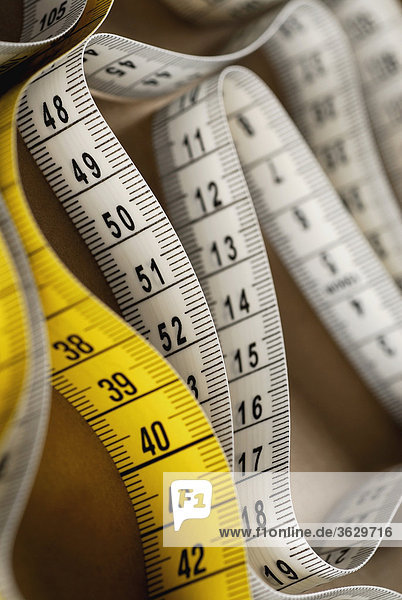 Close-up of a measuring tape