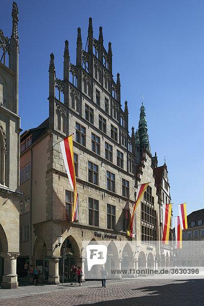 Gable houses on Prinzipalmarkt  Muenster  Germany
