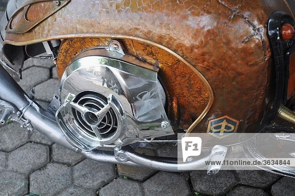 Ubud (Bali  Indonesia): detail of a fancy Vespa scooter  with a transformed bodywork
