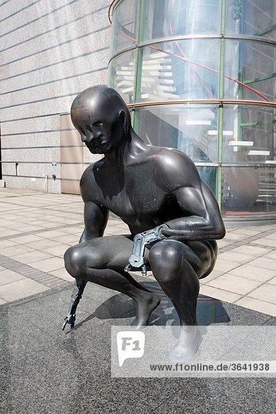 Narcissus statue by Björn Weckström at Pasila Helsinki Finland