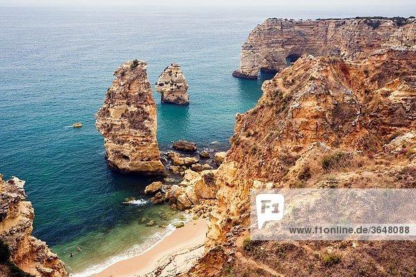 Da Marinha beach Lagoa Algarve Portugal