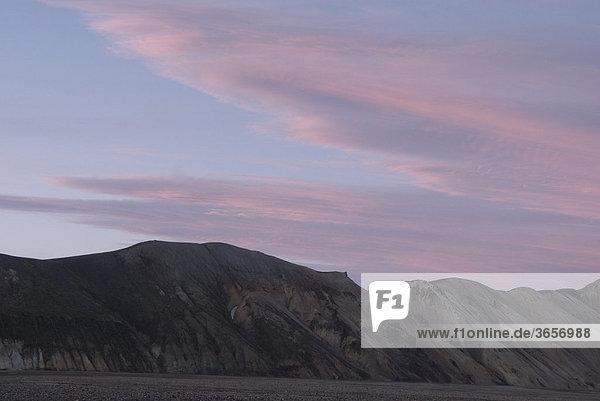 Landmannalaugar  Brennisteinsalda  Bergwelt  Abendstimmung  Island  Europa