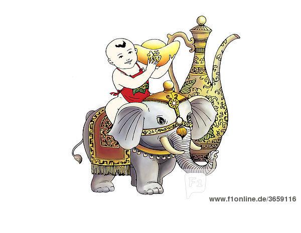 Chinesisches Neues Jahr  Illustration Chinesisches Neues Jahr, Illustration