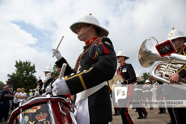 the band of HM Royal Marines Scotland at Armed Forces Day 2010 in Bangor County Down Northern Ireland