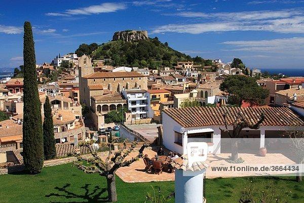 Begur village and castle Costa Brava Baix Empordà Girona Catalunya Spain