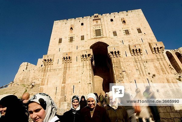 Inner gate of the Citadel  Aleppo  Syria