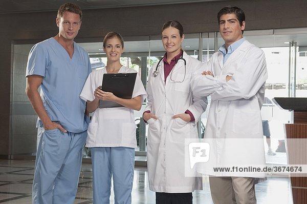 Portrait of doctors and nurses
