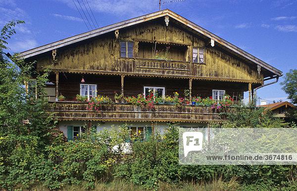 Altes Bauernhaus in Ascholding Bayern Deutschland