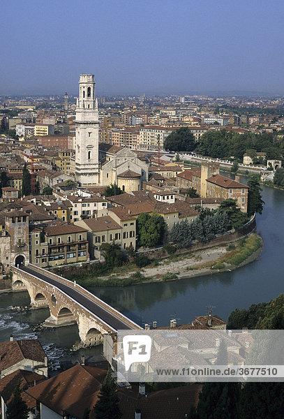Verona - church San Anastasia - view from Castel San Pietro - Veneto Italy