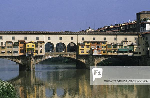 Italien Toskana Florenz Ponte Vecchio Fluss Arno