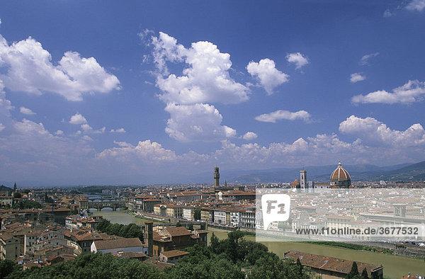 Italien Toskana Florenz Blick von Piazzale Michelangelo