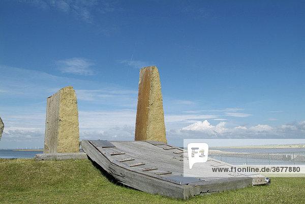 Steinskulpturen auf nordstrand