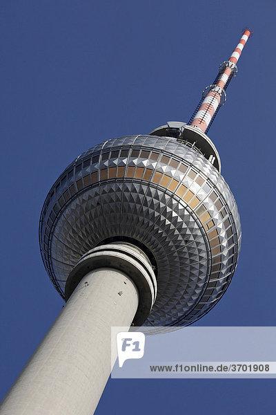 Fernsehturm am Alexanderplatz  Berlin  Deutschland  Europa