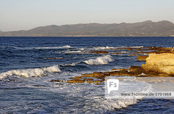Waves  Crete  Greece  Europe