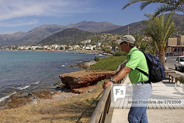 55 year-old tourist in Stalis  Crete  Greece  Europe
