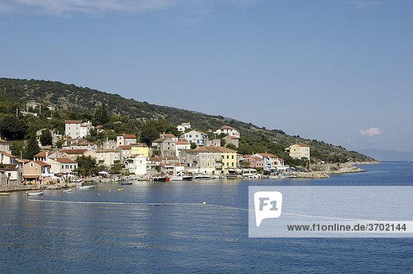 Blick auf Valun  Insel Cres  Kroatien  Europa
