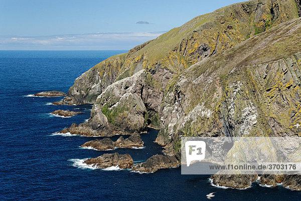 Westküste von Fair Isle  Shetlands  Schottland  Großbritannien  Europa