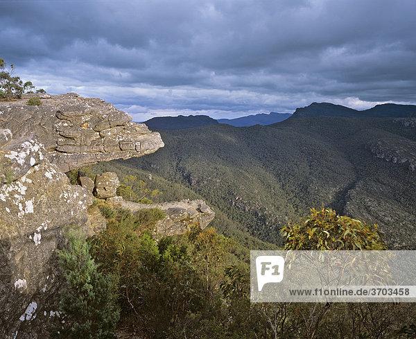 Felsvorsprung genannt The Balconies  Grampians Nationalpark  Victoria  Australien