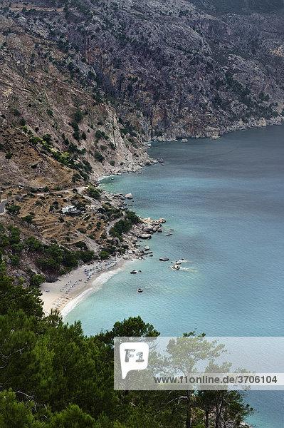 Apella Bucht  Insel Karpathos  Ägäische Inseln  Ägäis  Dodekanes  Griechenland  Europa