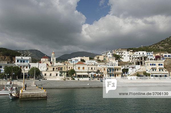 Port of Diafani  Karpathos  Aegean Islands  Aegean Sea  Greece  Europe