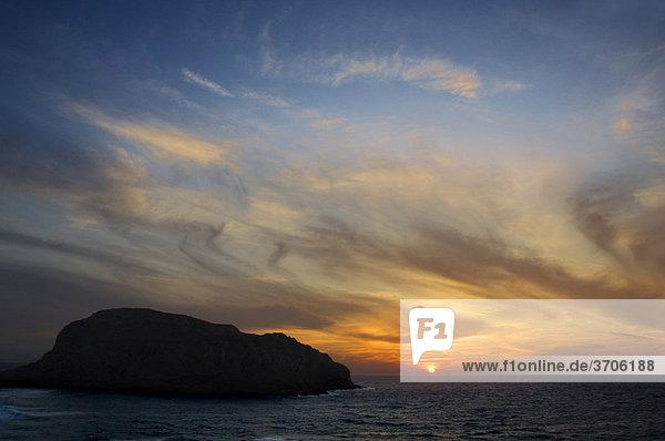 Sonnenuntergang bei Arkassa  Insel Karpathos  Ägäische Inseln  Ägäis  Dodekanes  Griechenland  Europa