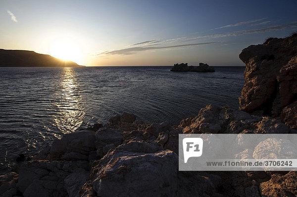 Sonnenaufgang in Amopi  Insel Karpathos  Ägäische Inseln  Ägäis  Dodekanes  Griechenland  Europa