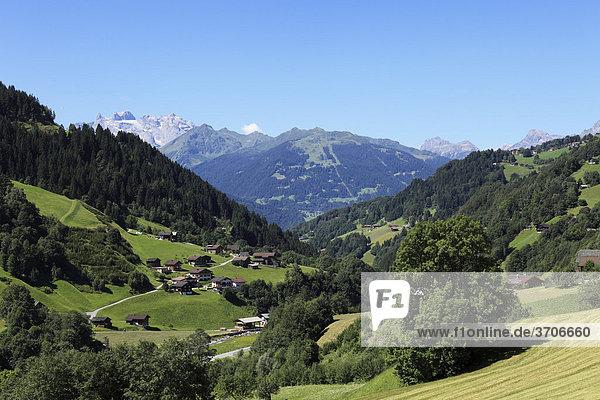 Silbertal bei Schruns  Montafon  Vorarlberg  Österreich  Europa