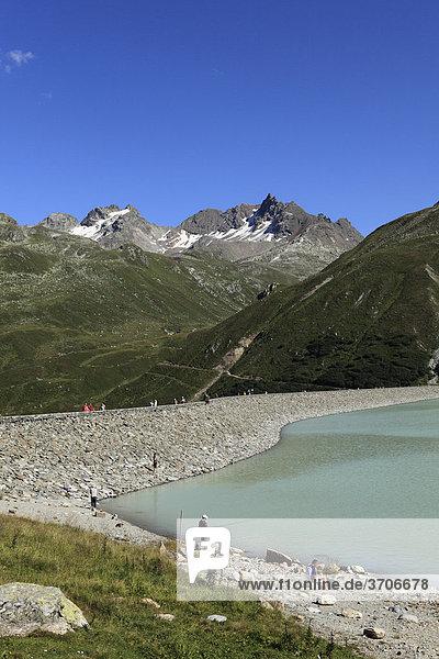 Silvretta Reservoir  Silvretta Group  Bielerhoehe  Vorarlberg  Tyrol  Austria  Europe