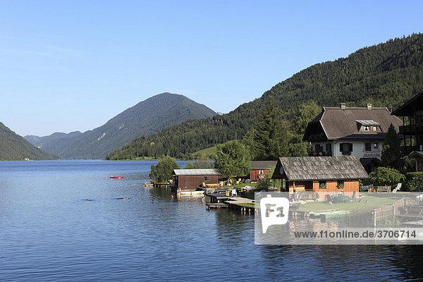 Weissensee Lake  Gailtaler Alps  Carinthia  Austria  Europe