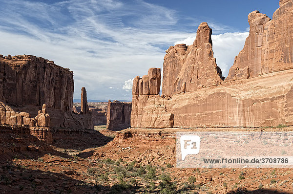 Park Avenue Viewpoint  Arches Nationalpark  Moab  Utah  USA