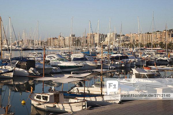 Yachthafen von Palma de Mallorca  Mallorca  Balearen  Mittelmeer  Spanien  Europa
