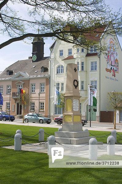 Rehau Oberfranken Bayern Deutschland Maxplatz ehemaliges Rathaus heute Puppenmuseum