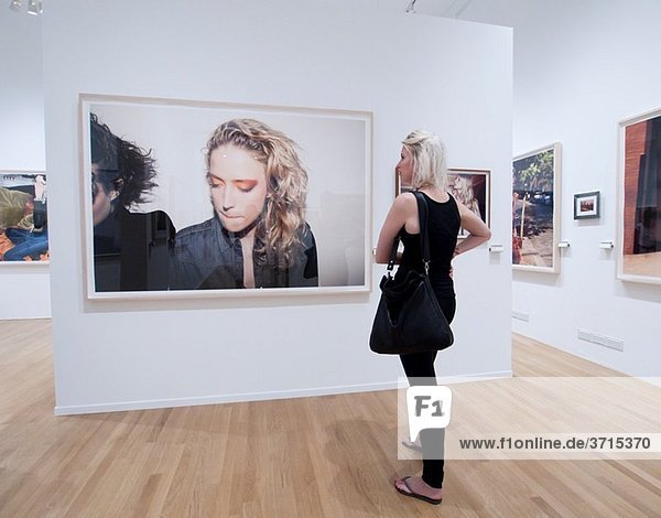 Photographs on display at FOAM Photography Museum in Amsterdam The Netherlands