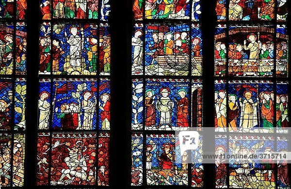 Staindes glass of Cathedral  France  Alsace  Strasbourg Staindes glass of Cathedral, France, Alsace, Strasbourg