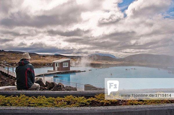 Jardbodin nature bath Geothermal Area Reykjahlid Iceland