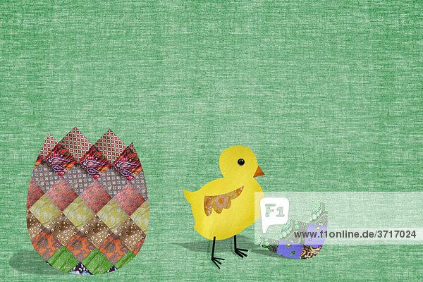 Osterküken und Ei Osterküken und Ei