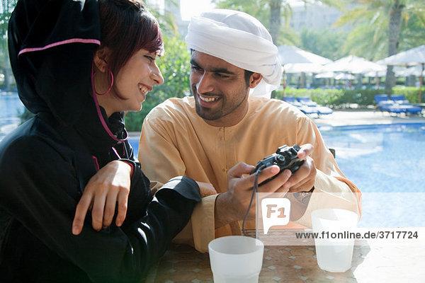 Menschen im mittleren Osten Blick in die Kamera